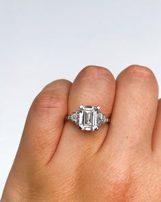 This magnificent Art Deco 2.57ct emerald cut diamond ring is made by one of London's oldest and best known jewellery houses HENNELL. It features a very large 2.57ct emerald cut diamond and is graded a superb colour: E and clarity: VS1. To top this off, this extremely impressive stone is a Natural Type IIA diamond, with only 1-2% of all natural diamonds being devoid of impurities. Famous diamonds like the Cullinan, Koh-i-Noor and Lesedi La Rona, are Type IIa. This ring is all handmade and set…