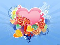 imagenes  | Fondos de Corazones imagen Colores Corazon