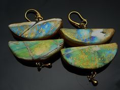 Earrings by Dorothy Renc Gray  PAPCG Philadelphia Area Polymer Clay Guild | Flickr - Photo Sharing!