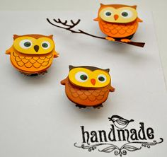 : Tutorial on how to make cute owl magnets