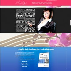 Diseño web para una profesional del marketing experiencial