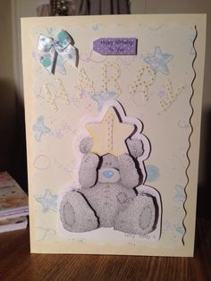 Hand made Card for little boy using Tatty Teddy decoupage
