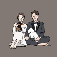 Ideas Drawing Couple Wedding Art For 2019 Cute Couple Drawings, Cute Couple Art, Cute Drawings, Cute Couples, Wedding Illustration, Family Illustration, Cover Wattpad, Cute Couple Wallpaper, Couple Cartoon