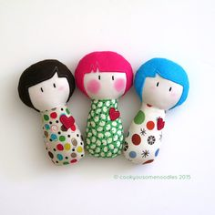 small handmade dolls   Cook You Some Noodles