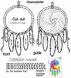 Dreamcatcher on Craftsuprint designed by Lori Russell - American Indian Dreamcatcher Iris Folding Pattern - Now available for download!