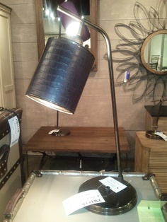 Great texture on the new Crocodile Shade desk lamp from Palecek #hpmkt