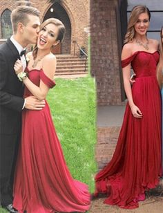 Evening Dresses,prom dresses,chiffon prom dress,Floor Length Evening Gowns,Off-the-shoulder Prom Dress,Elegant A-Line Prom Gown