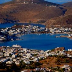 Patmos Greece It looked like this 46 yrs. I was privileged to visit this island many times with my family. This is where John the Baptist was. Such memories are priceless ! Beautiful Islands, Beautiful Places, Monaco, Portugal, Greece Islands, Emotion, Medieval Town, Travel Memories, Greece Travel