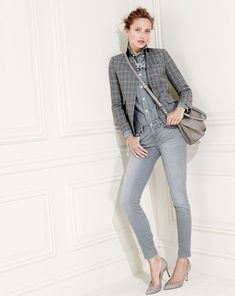 J.Crew Toothpick jean in dolphin grey wash.