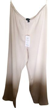 Eileen Fisher Elegant Wide Leg Pants Bone