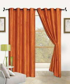 Loving this Orange Sherry Curtain Panel - Set of Two on #zulily! #zulilyfinds