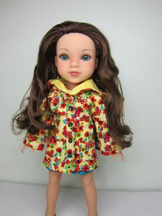 Hearts 4 Hearts doll clothes  Fun yellow print  by JazzyDollDuds