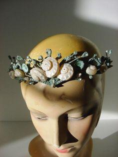 Vintage Inspired Mermaid Fairy Crown Shell Tiara Beach Wedding