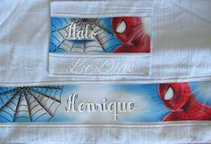Spiderman, Batman, Textiles, Personalized Items, Disney, Baby, Painting, Yuri, Decoupage