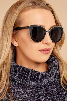 a83d744afc996 Mod Star Gold Green Sunglasses – Red Dress Boutique. 查看更多. Quay Australia  My Girl Sunglasses - Trendy Black Sunglasses - Sunglasses -  55.00 – Red  Dress