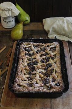 Cakes para ti: TARTA DE PERAS Y PASAS