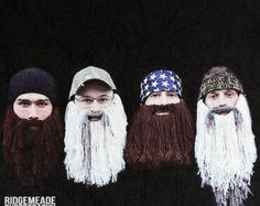 Duck dynasty crochet beard hat. LOL!