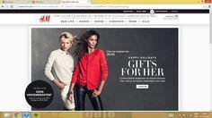H&M - Een sterke website omdat de site erg overzichtelijk is. Je weet precies waar je moet zijn. Op het eerste gezicht zie je ook meteen een actie die inspeelt op het feit dat het kerstmis is.