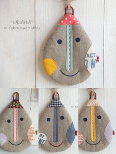 handmade*zakka | fabrickaz+idees I think these are potholders but wouldn't this make a cute zippered case? #FoPRR