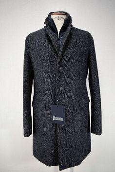 NWT HERNO TWEED CITY COAT cappotto uomo GIACCONE A I tg. 50-52 4603753a4e9