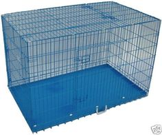 42' 3 Door Blue Folding Dog Crate Cage Kennel N/DIVIDER *** Visit the image link more details. (This is an affiliate link and I receive a commission for the sales) #Dogs