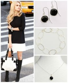 black, white & chic all over! You can never go wrong with a simple black & white look. What are you wearing this fine Friday?