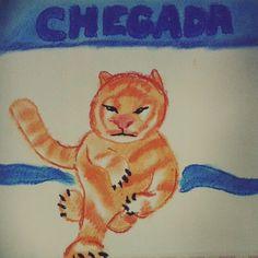 """""""#fevereironadaaver  #Dia27 : linha de chegada Um #tigre campeão!  #tiger #drawing #draw #desenho…"""""""