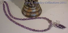 Marquis Amethyst Wire Wrapped in Sterling Silver by Ann's Jewelry Collection