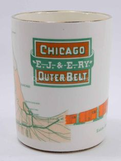 E.J. & E. RY. Chicago Outer Belt Pen Pencil Cup Holder Elgin Joliet Eastern by QueeniesCollectibles on Etsy
