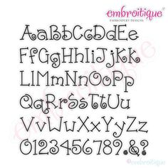 Ponies and Pigtails Monogram Font Set for machine embroidery Handwriting Alphabet, Hand Lettering Alphabet, Doodle Lettering, Creative Lettering, Lettering Styles, Calligraphy Letters, Lettering Design, Fun Fonts Alphabet, Alphabet Letters
