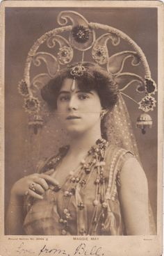 Beautiful Stage Actress Maggie May by Bassano..1905