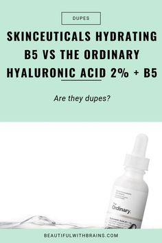 Is The Ordinary Hyaluronic Acid + A Dupe For Skinceuticals Hydrating Gel? Let's find out: Beauty Hacks Skincare, Skincare Dupes, Skincare Routine, Beauty Tips, Best Skin Cream, Cream For Dry Skin, Acne Skin, Oily Skin, Skin Care Regimen