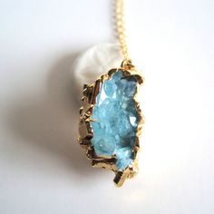 Aura Cluster Necklace now featured on Fab.