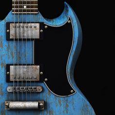 Worn Gibson SG.