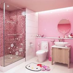 desain kamar mandi anak perempuan cantik dan modern hello kitty