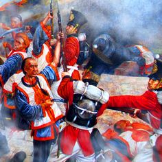 Melee combat between Qing Chinese and British troops, First Opium War