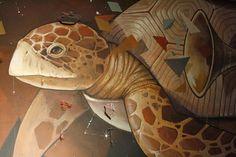 Alegria del Prado street art - detail