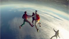 Sky diving from nearly space