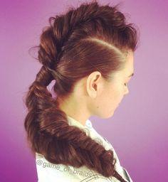 Fishtail Mohawk For Long Hair