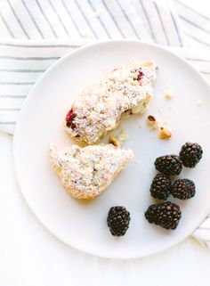 lemon blackberry scones