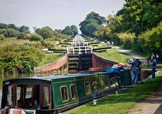 """""""A long climb"""" Part of the Caen Hill flight of locks on the Kennet and Avon canal in Wiltshire This image,along with many others, is available for purchase from my web site http://paul-gulliver.artistwebsites.com/featured/a-long-climb-paul-gulliver.html"""