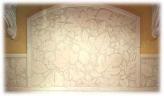 ceramic tile leaf stove backsplash, leaf tile back splash I liked this so much I pinned it twice