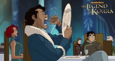 Varrick just might be our favorite new Book 2 character! Bonus: Bolin's face in the background!