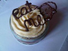 Mini Victoria sponge cakes with Chocolate writing :) Mini Victoria Sponge Cakes, Frostings, Cake Designs, Assessment, Cake Decorating, Pudding, Tutorials, Decorations, Crafty