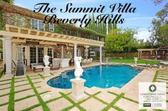 IT'S A PERFECT POOL 🏊🏻 DAY IN BEVERLY HILLS 90210 WITH A FORECAST OF 82 DEGREES 🌞AT THE SUMMIT VILLA IN THE GUARD GATED COMMUNITY OF THE SUMMIT BEVERLY HILLS IS THE PERFECT SPOT FOR YOUR POOL PARTIES. Beverly Park, Beverly Hills 90210, Pool Days, Gated Community, Post Office, Home And Family, Villa, Real Estate, California