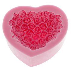 Silikone Cake Mold Bake ware Udsmykning Gum Paste Clay Soap Mold Rose formet (1stk) – DKK kr. 35