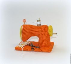 Вяжем миниатюрную швейную машину - Ярмарка Мастеров - ручная работа, handmade