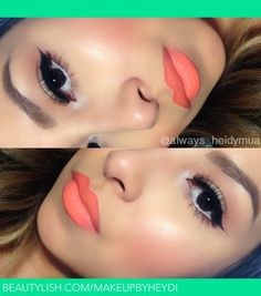 Orange lipstick | Heidy E.'s (MakeupbyHeydi) Photo | Beautylish