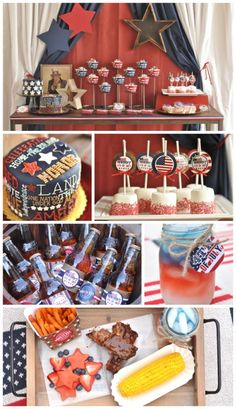 4th of July / Memorial Day party by Creative Juice - Great Ideas for dessert, decorations, drinks and more