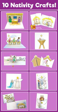 Pack of 10 Nativity Themed Printables Easy Arts And Crafts, Crafts To Do, 7 Days Of Creation, Abraham And Sarah, Bible Activities For Kids, Baby Coloring Pages, Stars Craft, Lds Primary, Nativity Crafts